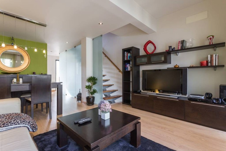 Living room in contemporary city centre house