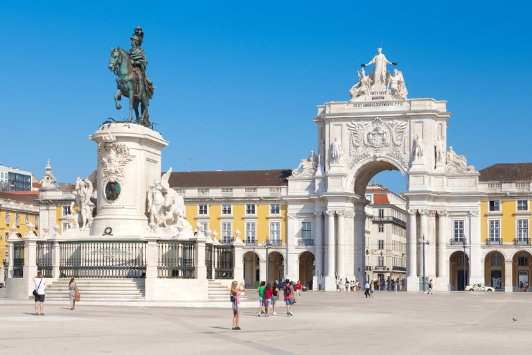 Lisbon - Commerce Square (Praca do Comercio), Lisbon, Portugal