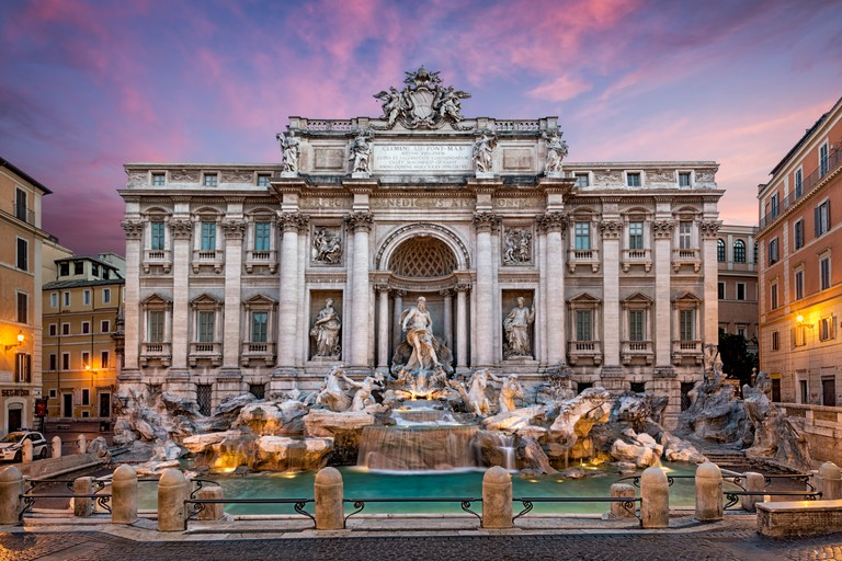 Italy, Rome, View of Fontana di trevi