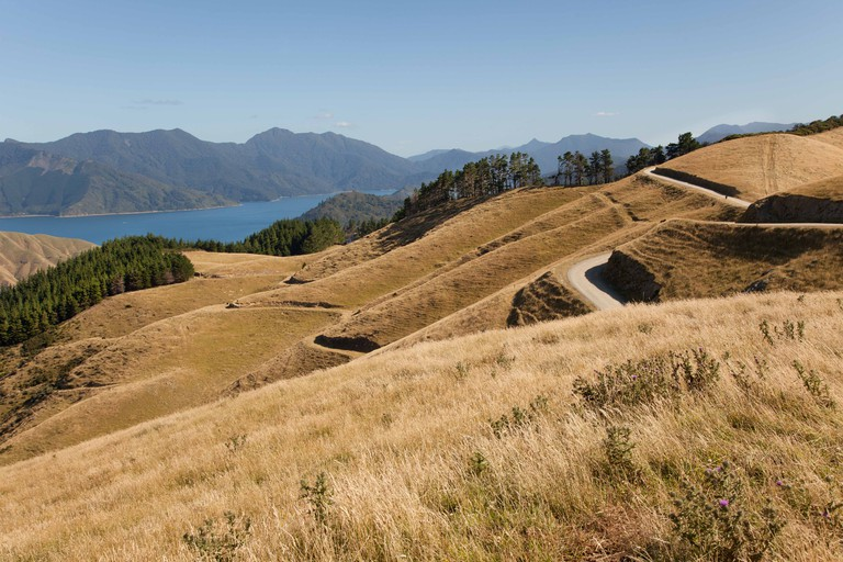 Marlborough sounds in the north of south island