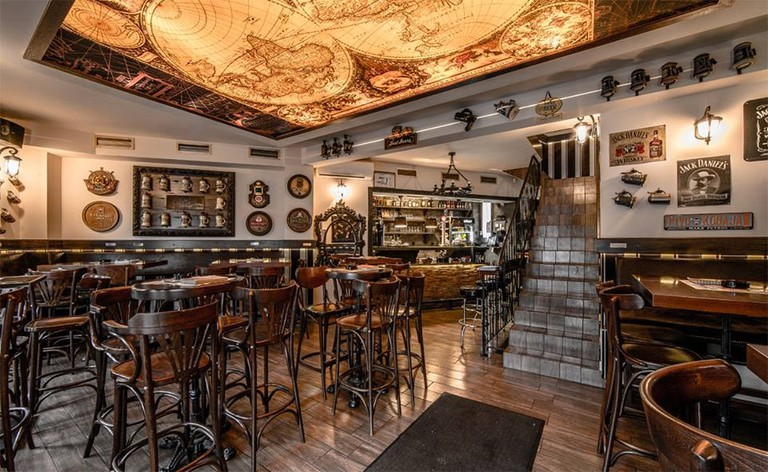 The interior of the self-explanatory Beer and Sausage restaurant in Belgrade