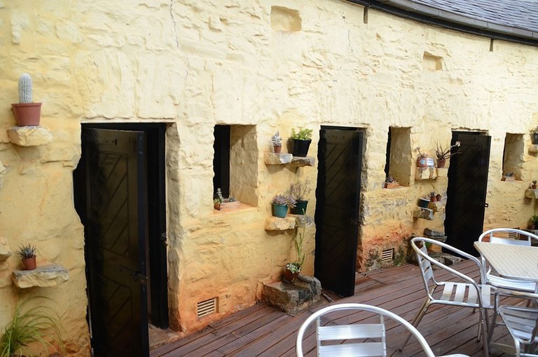 Provost Prison cells and coffee shop courtyard