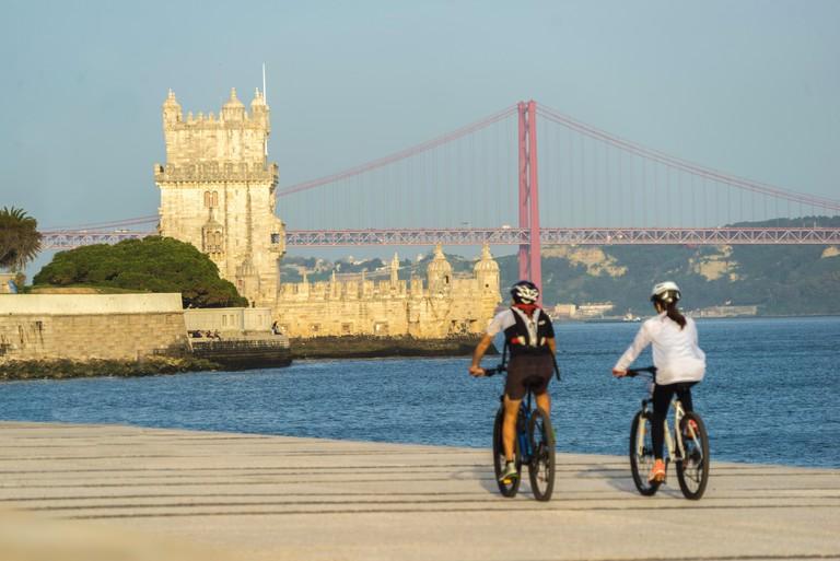 Biking in Lisbon