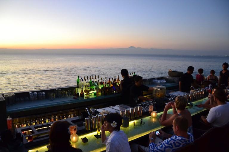 The magical view at The Rock Bar Bali