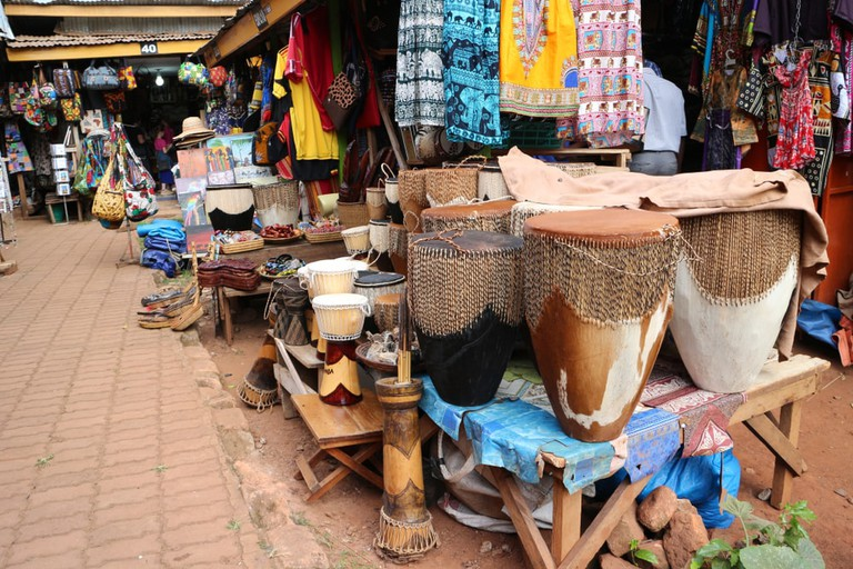 African traditional market in Kampala, Uganda.