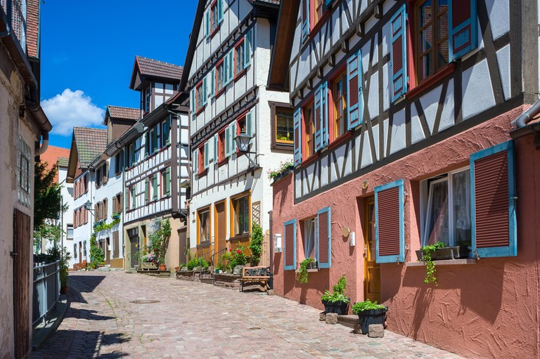 Spitalstrasse in Schiltach, Black Forest, Baden-Wurttemberg, Germany