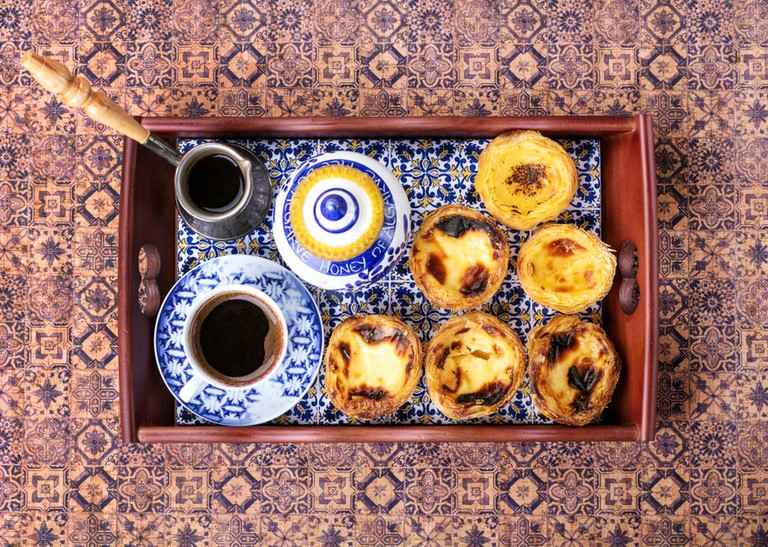 Traditional Portugese pastry Pastel de Nata