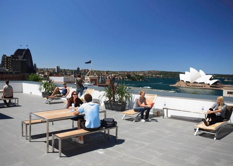 Sydney Harbour YHA rooftop terrace