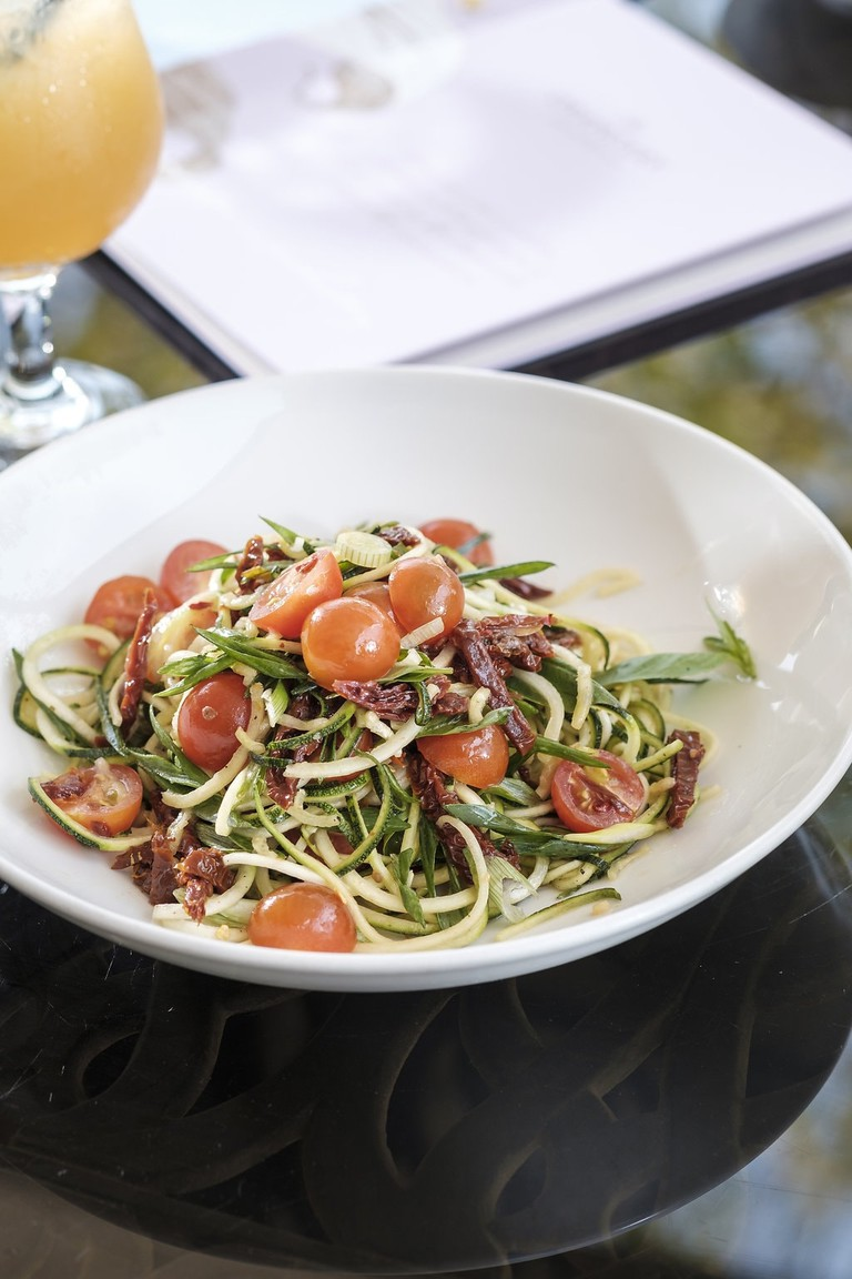 Zucchini zoodles salad at the Orangery, Tea Room and Patisserie
