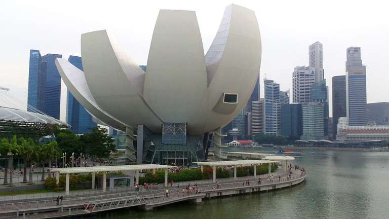 The lotus-shaped ArtScience Museum at Marina Bay Sands