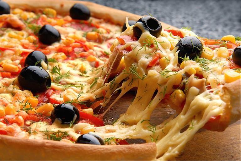 Delicious pizza at C'est La Vie