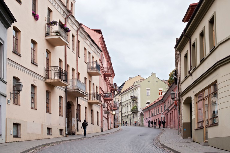 Uzupio street in the Uzupis district in Vilnius