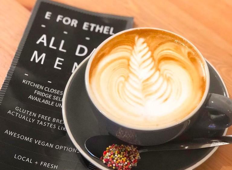 Menu and coffee at E for Ethel © E for Ethel