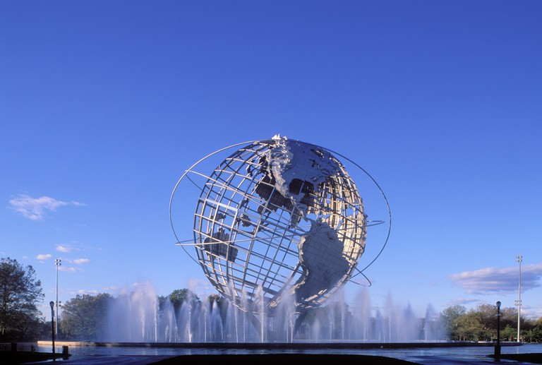 Unisphere, Flushing Meadow Park, Queens, New York, USA.