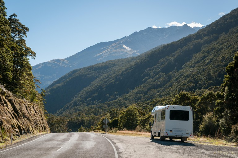Mount Aspiring National Park on State Highway 6, the Haast Pass