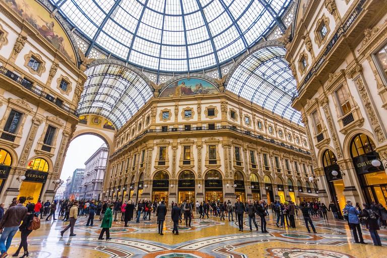 Galleria Vittorio Emanuele II, Milan, Italy. Image shot 11/2015. Exact date unknown.