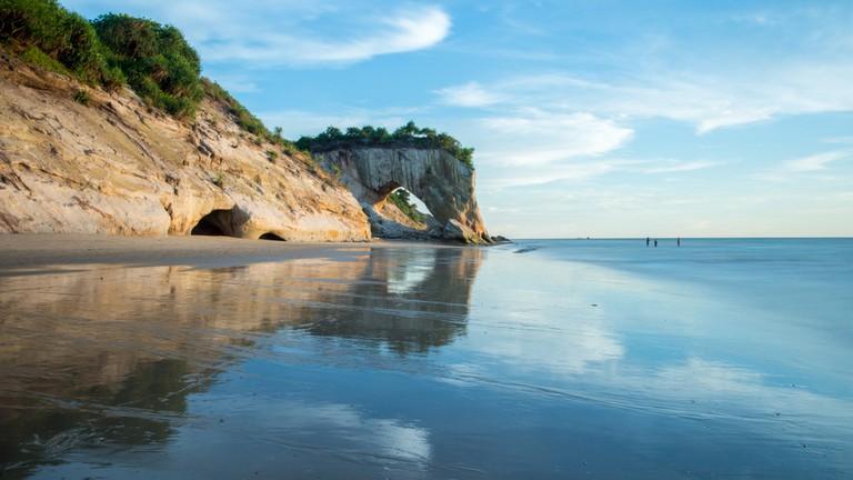 Tusan Beach, Miri, Sarawak, Malaysia.