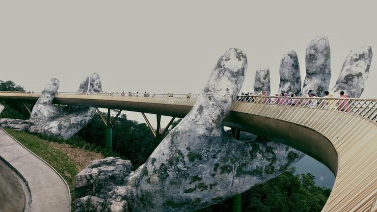 Golden Bridge, Ba Na Hills, Danang, Vietnam.