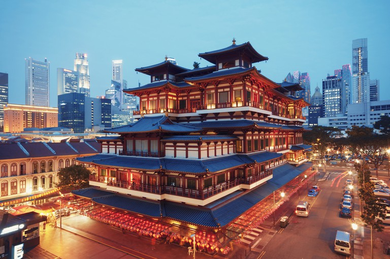 Buddha Toothe Relic Temple in Chinatown, Singapore