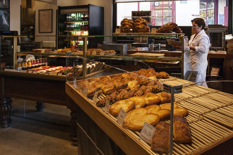 Traditional bakery pastry store