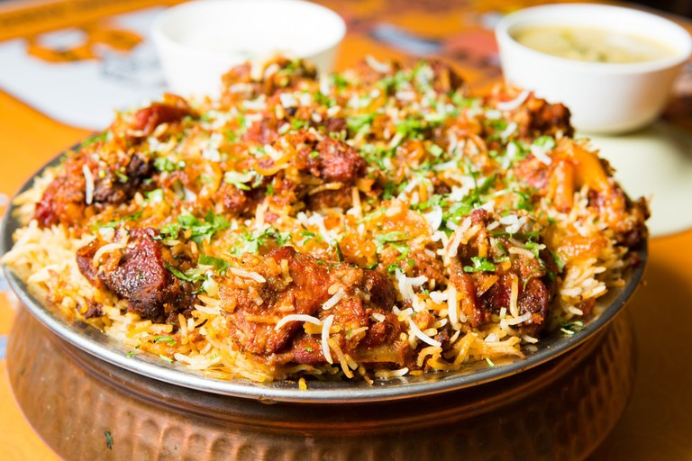 Hyderabadi biryani is a form of biryani, from Hyderabad, India.