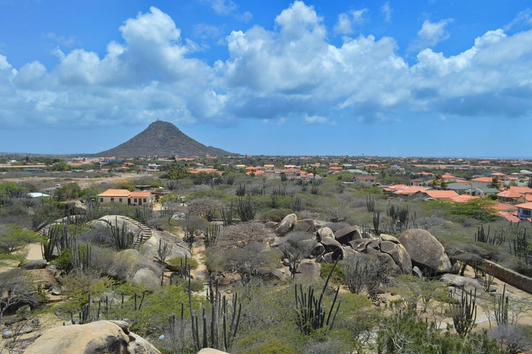 A View of Hooiberg Peak, Aruba