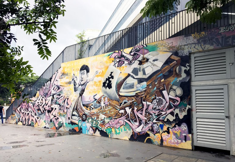 Street art at Scape, Singapore