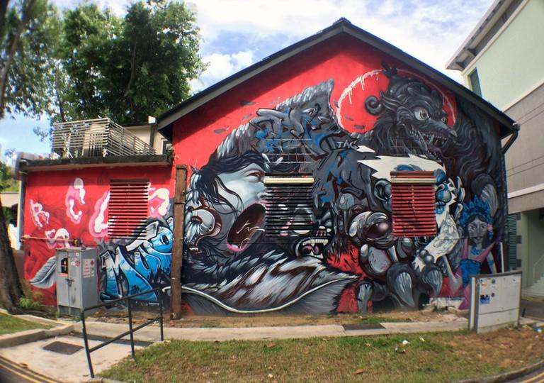 Singapore Street Art - Substation Back Wall RSCLS