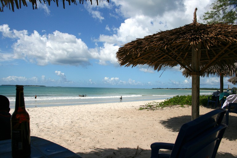 Relaxing on Kipepeo Beach