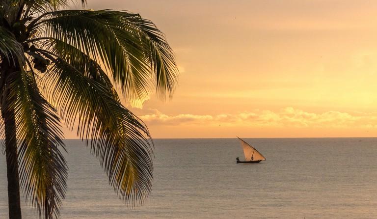 Dhow seen from Bahari Beach