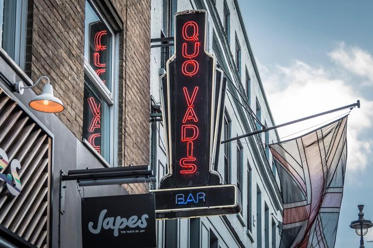 Quo Vadis restaurant, Dean Street, Soho, London, W1D, UK