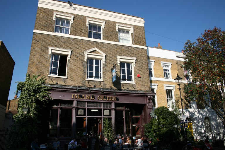 The Island Queen is one of Islington's most famous pubs, London