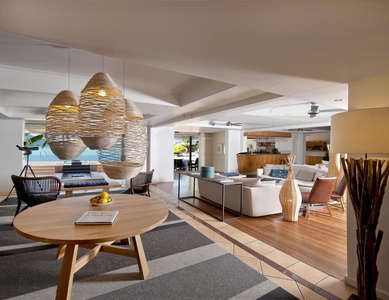 The stylish Beach Club lounge