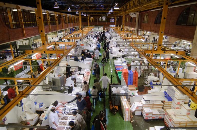 The interior of Billingsgate Market