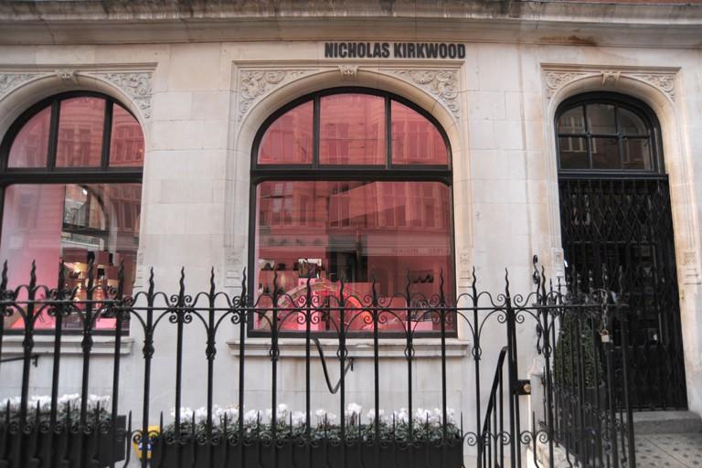 Exterior shot of the Nicholas Kirkwood store on Mount Street London England 2011 - Image Copyright Ben Pruchnie 2011
