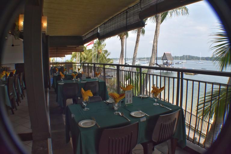 The laidback Coachman Inn Restaurant at Changi Sailing Club
