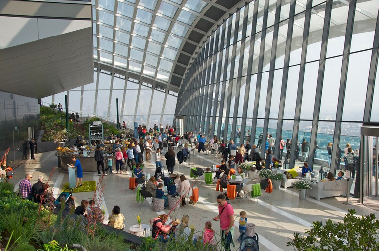Sky Garden at 20 Fenchurch Street, London.