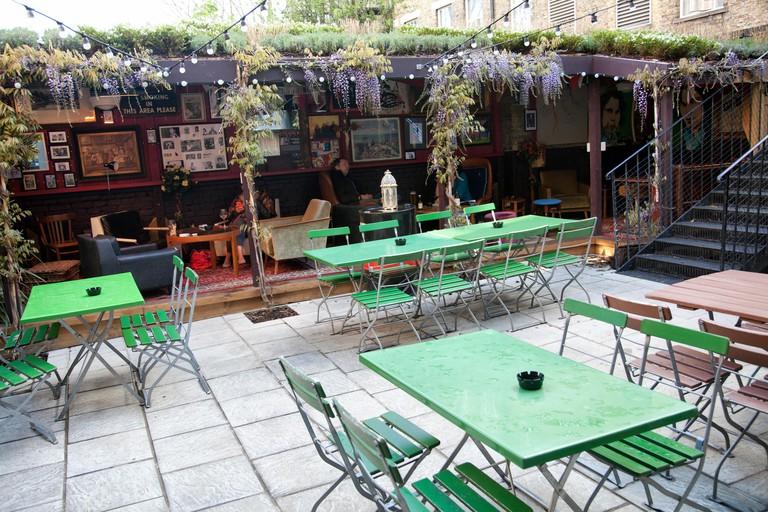 Four Thieves Pub Garden in Battersea - London UK