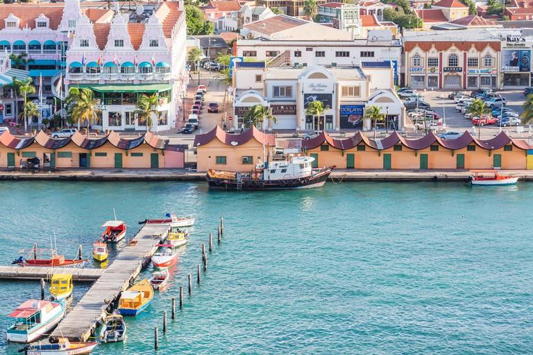 Oranjestad on the island of Aruba