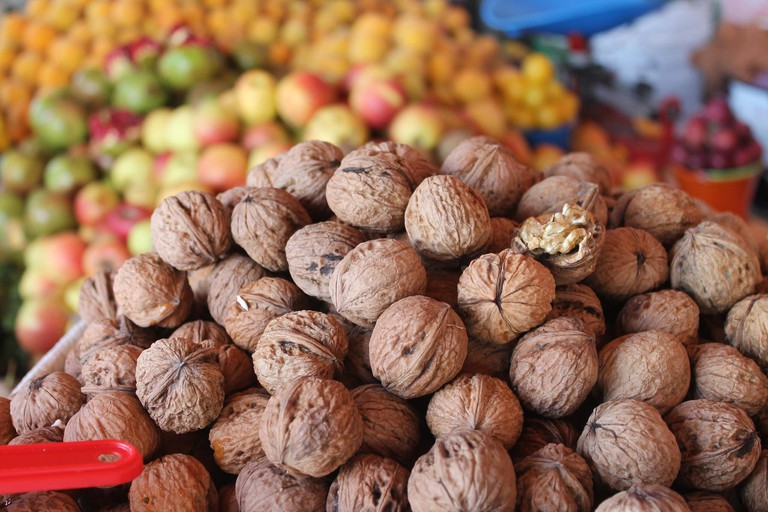 Walnuts are among the ingredients of chile en nogada