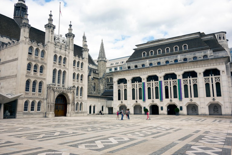 Guildhall and Guildhall Art Gallery in the City of London