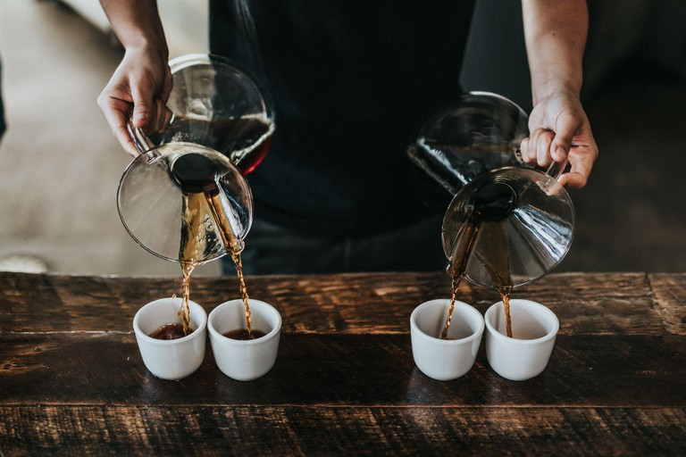 Hyde & Son Bar in Edinburgh make specialty coffee cocktails