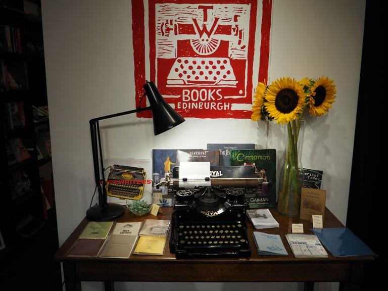 Edinburgh's Typewronger Books stocks indie press books, new books and typewriters