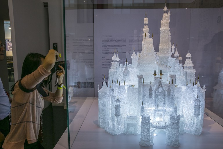 Disney castle at Shanghai Museum of Glass, China - 15 May 2016