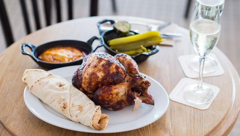 Roast chicken at the Paddington © The Paddington