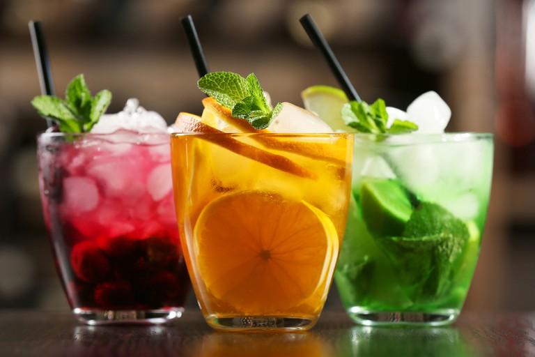 Glasses of cocktails