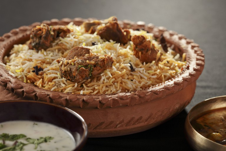 Mutton Gosht Biryani from India.