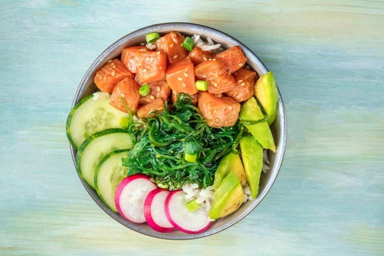 Traditional Hawaiian raw fish salad
