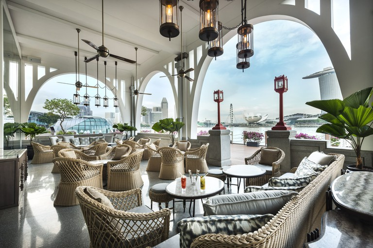 The alfresco area of the Clifford Pier at Fullerton Bay Hotel