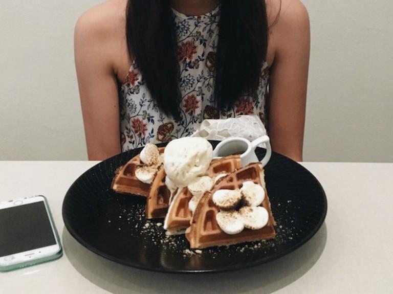 Affogato Waffles